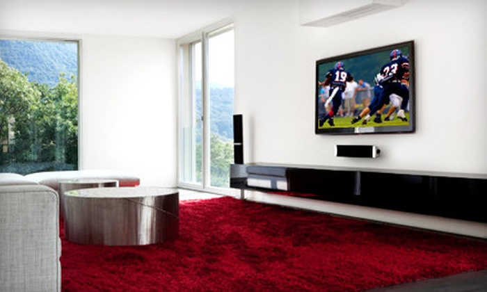 Drew-Tronics - Arlington: Tilt Wall Mount for a Flat-Screen TV from Drew-Tronics (Up to 79% Off). Three Options Available.