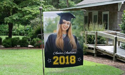 image for One or Two Personalized Graduation Garden Flags (Up to 73% Off)