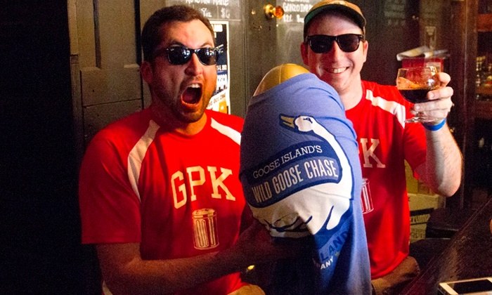 Team Player Productions - Goose Island Events - Tin Roof: $25 for Wild Goose Chase Urban Beer Scavenger Hunt for Team of Two on Saturday, October 25 ($50 Value)