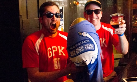 $25 for Wild Goose Chase Urban Beer Scavenger Hunt for Team of Two on Saturday, August 16 ($50 Value)