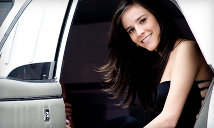 All Stretched Out Limousine Service - Linthicum: Three- or Six-Hour Limo Service with Champagne for Up to Eight from All Stretched Out Limousine Service (Up to 63% Off)