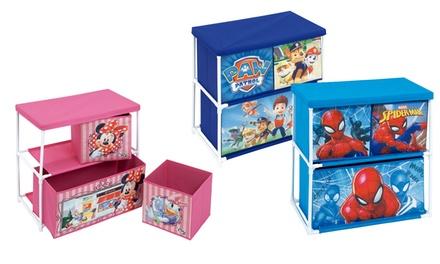 Estante infantil de 3 cajas Disney