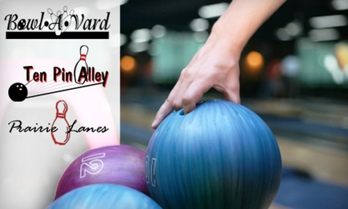 Bowl-A-Vard Lanes - Multiple Locations: $12 for Two Hours of Unlimited Bowling for Up to Five People at Bowl-A-Vard Lanes, Prairie Lanes, or Ten Pin Alley (Up to $40 Value)