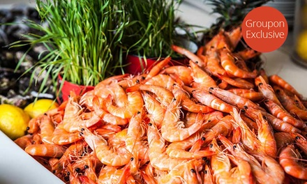 AYCE Seafood Buffet + Glass of Wine Each $42, 2 $84 or 4 People $168 at Fables Restaurant Up to $346 Value