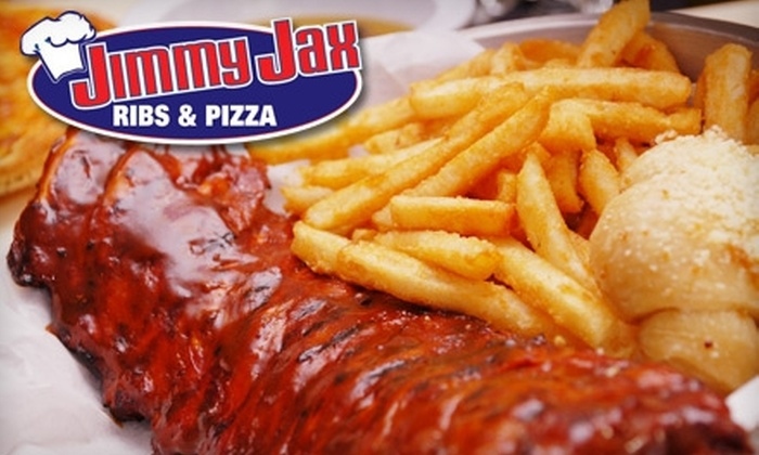Jimmy Jax Ribs & Pizza - Sunrise Golf Village West: $10 for $20 Worth of Barbecue, Pizza, and More at Jimmy Jax Ribs & Pizza in Sunrise