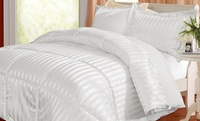 GROUPON: kathy ireland Reversible Stripe to Solid Comforter  kathy ireland Reversible Stripe to Solid Comforter