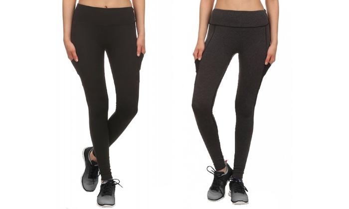 Women's Mesh-Panel Activewear Leggings