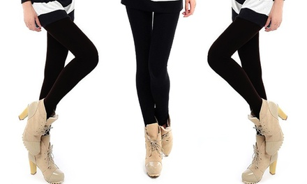 Pack 3 o 5 leggings térmicos de color negro