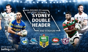 Sydney Double Header: Sydney Double Header: Rabbitohs v Sea Eagles + Parramatta Eels v Sharks: 15% Off Tickets, 24 March, ANZ Stadium