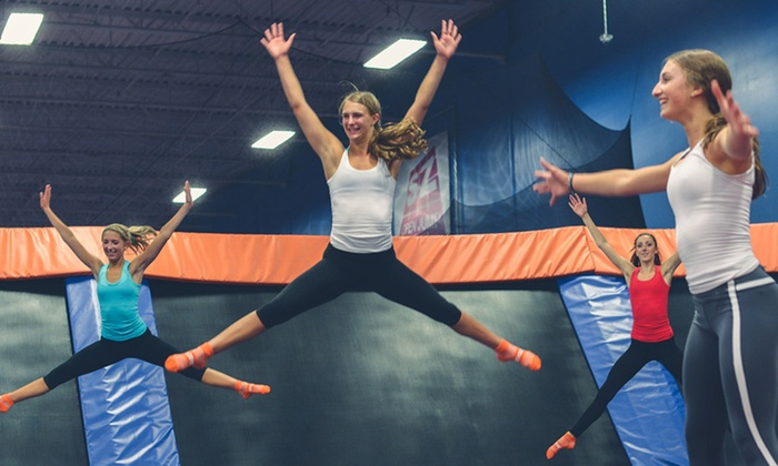 Sky Zone - Aurora: Two 60-Minute Jump Passes or a Jump Around Party for Up to 10 at Sky Zone Aurora (Up to 46% Off)