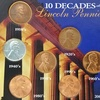 Lincoln Pennies from 10 Decades