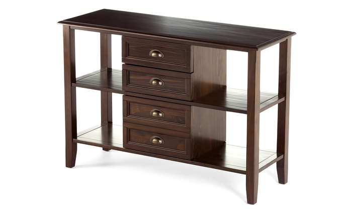 Foyer Table Macy S : Simpli home pine console table groupon goods