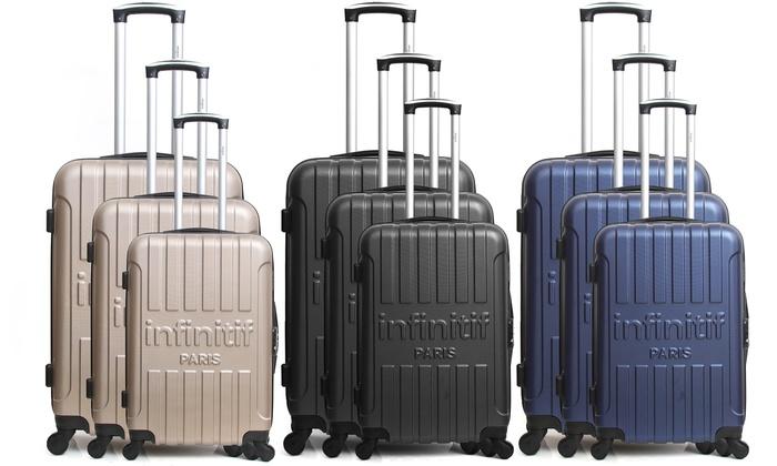 Set 3 valises abs infinitif paris groupon shopping - Maletas platinium ...