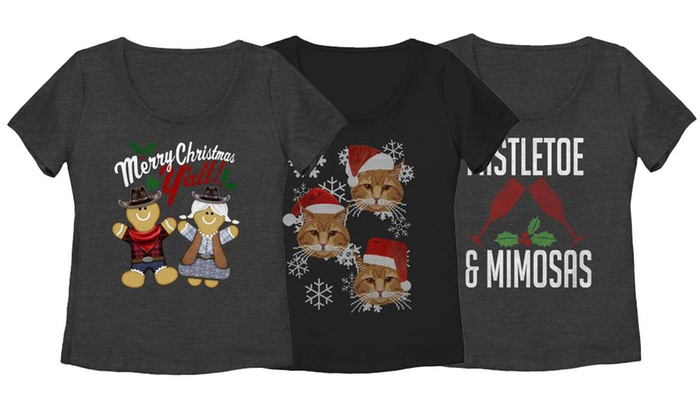 womens plus size christmas tees