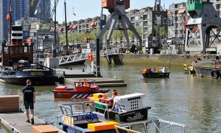 Zelf bootje varen voor kinderen bij Kids Marina in de Leuvehaven in hartje Rotterdam