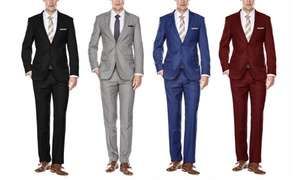 64c3857b7e6237 Men's Fall Colors Classic 2-Piece Fitted Suit