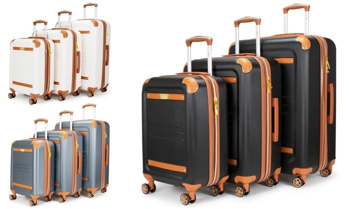 67dcacf2e 19V69 Italia Vintage Expandable Hardside Spinner Luggage Set (3-Pc.)