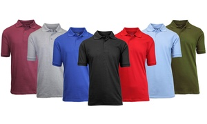 Men's Short Sleeve Polo Shirts (5-Pack)