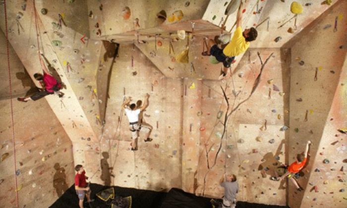 Upper Limits Rock Gym - Bloomington: Intro to Climbing Package for One, Visits for Two, or Climbing Package for Four at Upper Limits Rock Gym (Up to 56% Off)