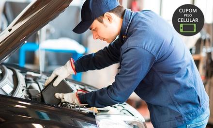 Troca de óleo + filtro + alinhamento + balanceamento + rodízio + cambagem e mais no Estação Car – Ceilândia