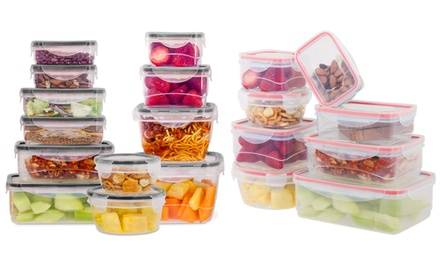 Wexley Home Plastic Food Storage Set with Locking Lid (16-, 24-, 32-, or 48-Piece)
