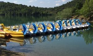 Plage Le Pré Claou: 1h30 de pédalo avec ou sans toboggan au bord du lac St-Cassien dès 9,99 € à la Plage Le Pré Claou