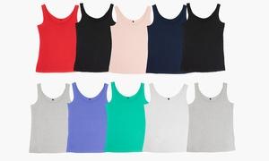 (Mode)  Lot 10 débardeurs femme 100% coton -5% réduction