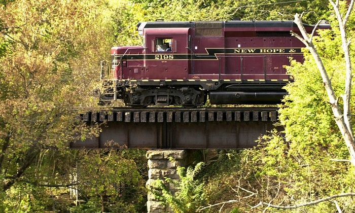 New Hope & Ivyland Railroad - New Hope: $44 for Easter Bunny Express Ride for One Adult and One Child at New Hope & Ivyland Railroad ($57.90Value)