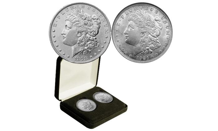 1878 And 1921 Morgan Silver Dollars Groupon
