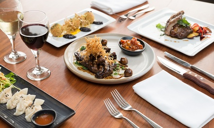 Two-Course Dinner with Wine for Two ($59) or Four People ($115) at Skyline Restaurant Rydges Adelaide (Up to $248 Value)