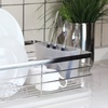 Stainless Steel Dish Rack with Drain Board
