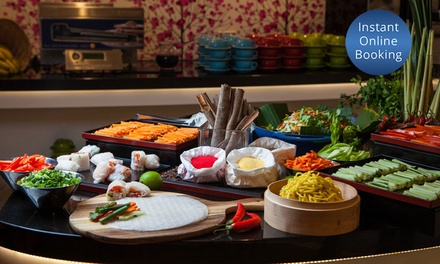 Asian Dinner Buffet & Wine $44 or 4 People $84 at Four Points By Sheraton Brisbane Dining Up to $176 Value