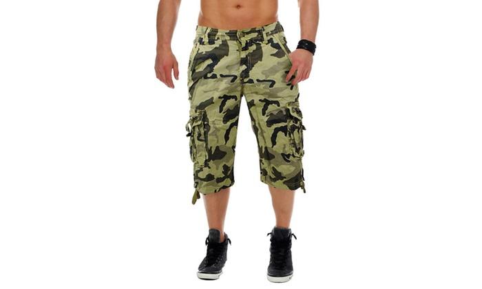 bermuda homme motif camouflage groupon shopping. Black Bedroom Furniture Sets. Home Design Ideas