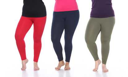 bf51c1a8668 Shop Groupon Women s Super-Stretch Solid Leggings. Plus Sizes Available.