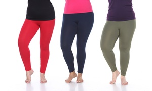 Women's Super-Stretch Solid Leggings. Plus Sizes Available.