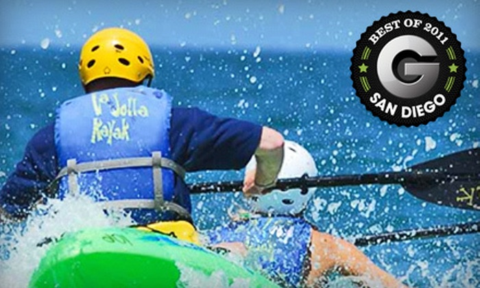 La Jolla Kayak - La Jolla Shores: $39 for a Sea-Cave Tour for Two in a Double Kayak from La Jolla Kayak (Up to $85 Value)