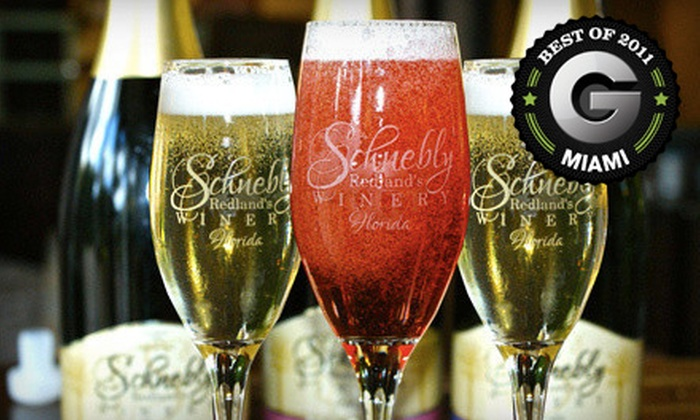 Schnebly Redland's Winery - Everglades: $25 for a Sparkling-Wine-Tasting Package for Two at Schnebly Redland's Winery in Homestead (Up to $54.90 Value)