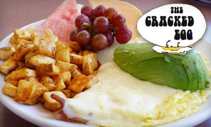 The Cracked Egg - Multiple Locations: $7 for $15 Worth of Savory Breakfast or Lunch at The Cracked Egg. Choose Between Two Options.