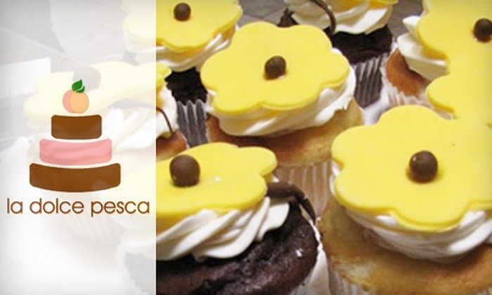 La Dolce Pesca - Downtown Scottsdale: $18 for a Dozen Cupcakes at La Dolce Pesca in Scottsdale ($42 Value)