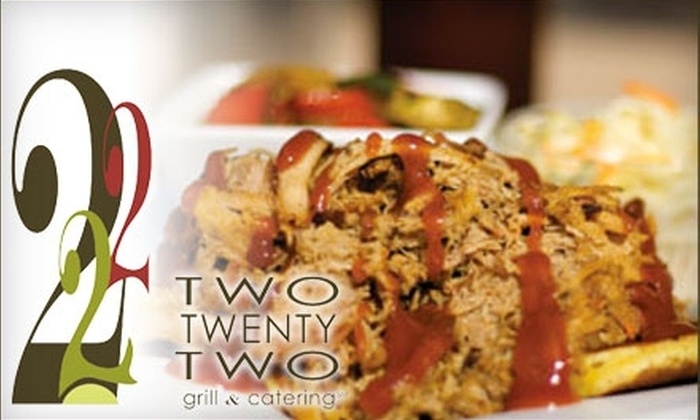 Two Twenty-Two Grill & Catering - Downtown Nashville: $10 for $20 Worth of Southern Cuisine and Drinks at Two Twenty-Two Grill & Catering