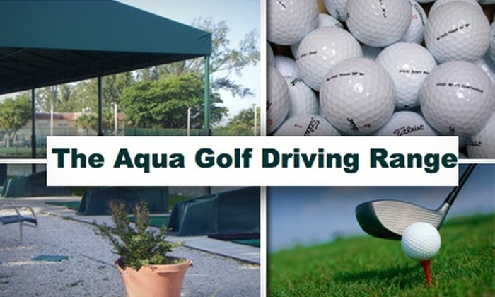 Aqua Golf Driving Range - Pembroke Park: $10 for $25 Toward Range Balls or Lessons at Aqua Golf Driving Range & Pro Shop