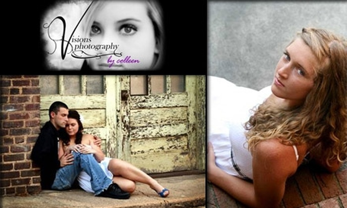 Visions Photography - Forest Oaks: $35 for an In-Studio or On-Location Photo Session and Two Holiday-Card Templates from Visions Photography ($150 Value)