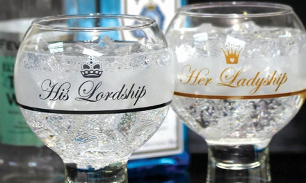 Up to Eight Durobor Alternato Ladyship or Lordship Bubble Base Gin Glasses