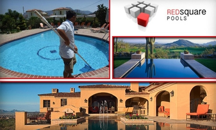 Red Square Pools - Las Vegas: $20 for One Month of Pool Cleaning, Two Hours of Pool Repair Service, or One Emergency Service Visit at Red Square Pools (Up to $150 Value)