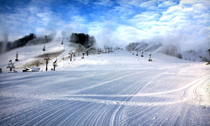 Crystal Mountain Resort and Spa - Crystal Mountain: Two-Day Ski Outing for One or One-Day Ski Outing for Four at Crystal Mountain Resort and Spa in Thompsonville (Up to Half Off)