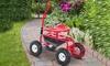 Outsunny Rolling Garden Cart