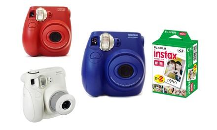 Déstockage: Appareil photo Fujifilm Instax Mini 7s reconditionné, pellicule instantanée en option, livraison offerte