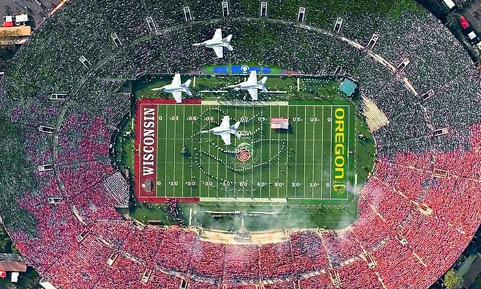 Badger Trips 2012 Rose Bowl Package - Downtown Los Angeles: $2,019 for Tickets to 2012 Rose Bowl for Two with Chartered Flights, Hotel Stay, and Transportation from Badger Trips ($3,468 Value)