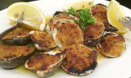 Italian Food at The Old Time Vincent's Italian & Seafood Restaurant (Up to 42% Off). Two Options Available.