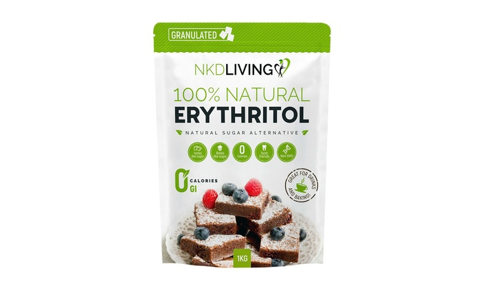One, Two or Three Packs of Erythritol 1kg
